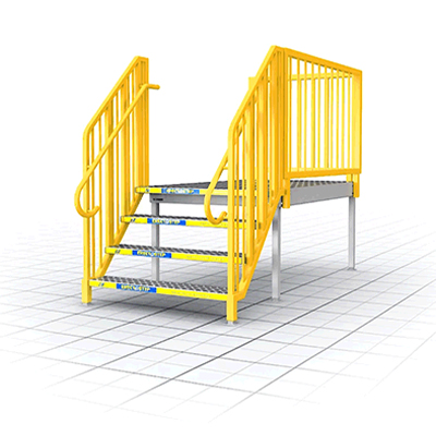ADJUSTABLE PORTABLER STAIRS Portable Stairs