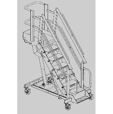 G SERIES MOBILE Rolling Stairs and Work Platforms