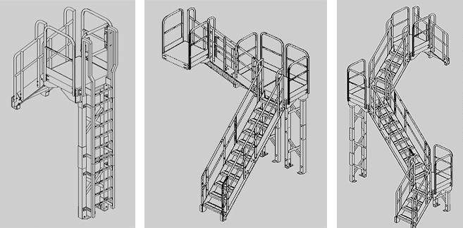 Industiral stairs three v Industrial Stairs and Ladders